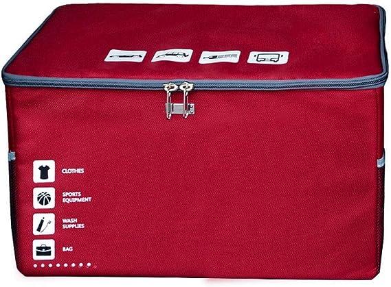 Plegable Organizador Maletero Coche, con Tapa Cremallera Tela Oxford Desmontable Tablilla Caja Almacenamiento (Color : C, Size : 53cm): Amazon.es: Hogar