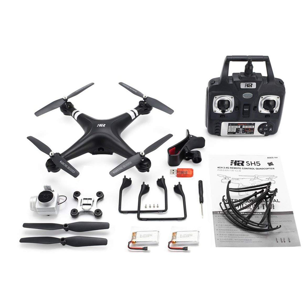 Harlls SH5H 2,4g FPV-Drohne mit 720p HD-WiFi-Kamera Live-Video-Headless-Modus-Schwerkraft-Sense-Return-Taste