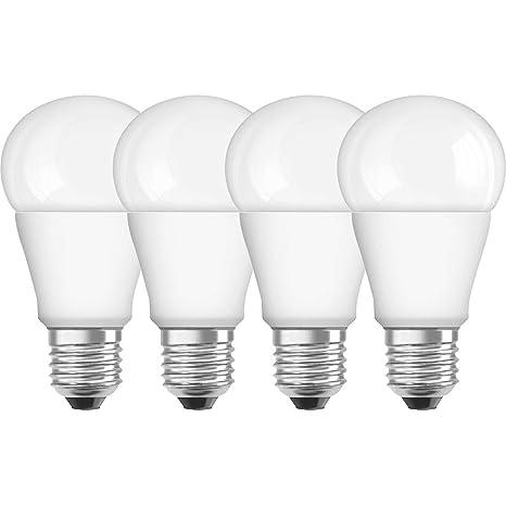 Osram Superstar Bombilla LED, E27, 9 watts, Blanco,paquete de 4