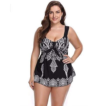 Divgdovg Conjunto Bikini Mujer Dos Piezas Estampado Falda Verano ...