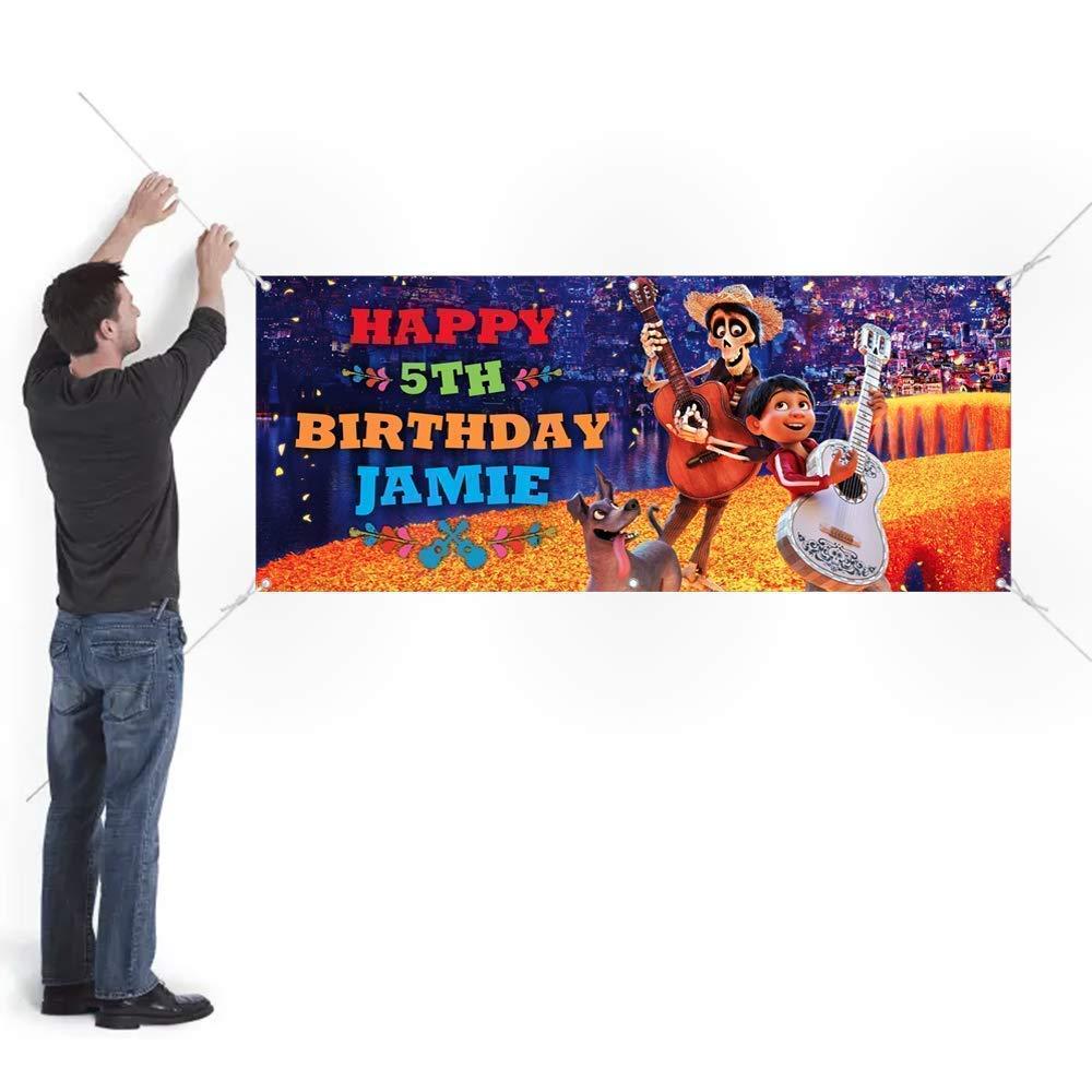 Coco Birthday Banner Party Backdrop Decoration