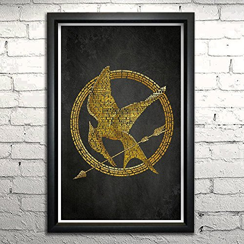 Hunger Games word art print Framed