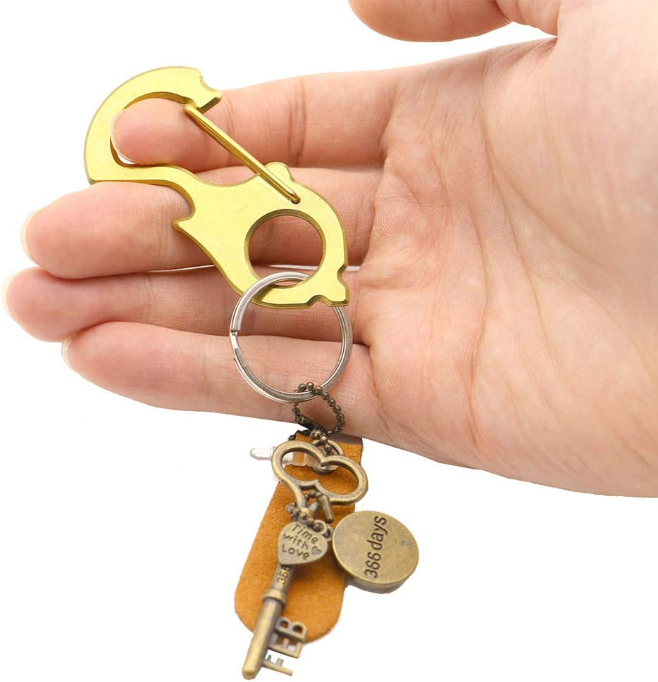 oUUoNNo Carabiner Keychain Carabiner Clip Retractable Ring Set Quick Release Hooks Stainless Steel Multitool Glass Breaker,Bottle Opener