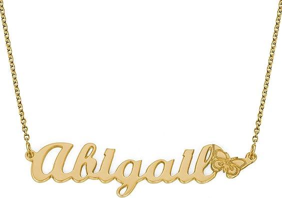Personalized Name Necklace with a Butterfly  \u2022 Minimalist Jewelry \u2022 Custom Name Necklace \u2022 BSN113