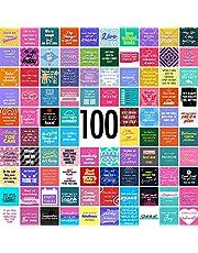 "100 Motivational Inspirational Cards- Encouragement, Gratitude, and Self Care - 3""x3"" Size"