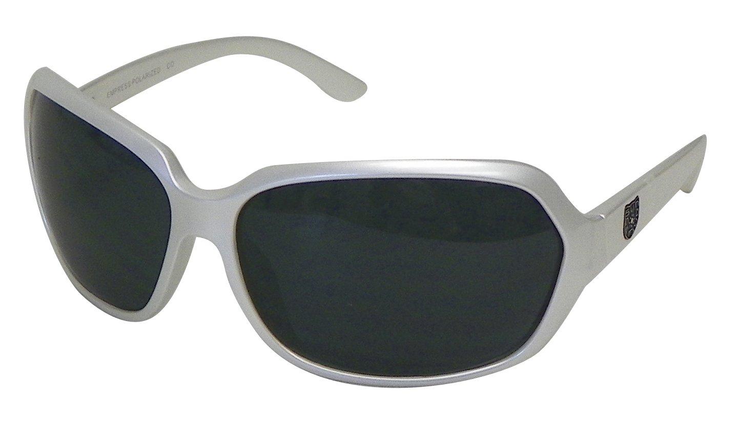 Suncloud Empress Polarized Sunglasses (Pearl Frame, Gray Lens)