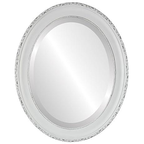 Amazon.com: Oval Beveled Wall Mirror for Home Decor - Kensington ...