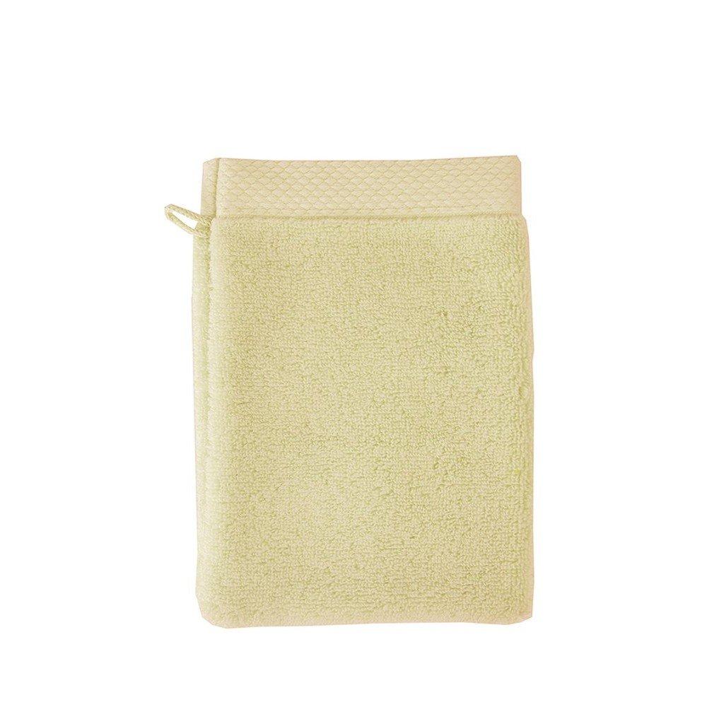 Garnier-Thiebaut, Set of 2, Luxuriously Soft Cotton European Shower/Wash Mitts (Gants De Toilette), Angora (Soft, Light Beige), Elea Collection