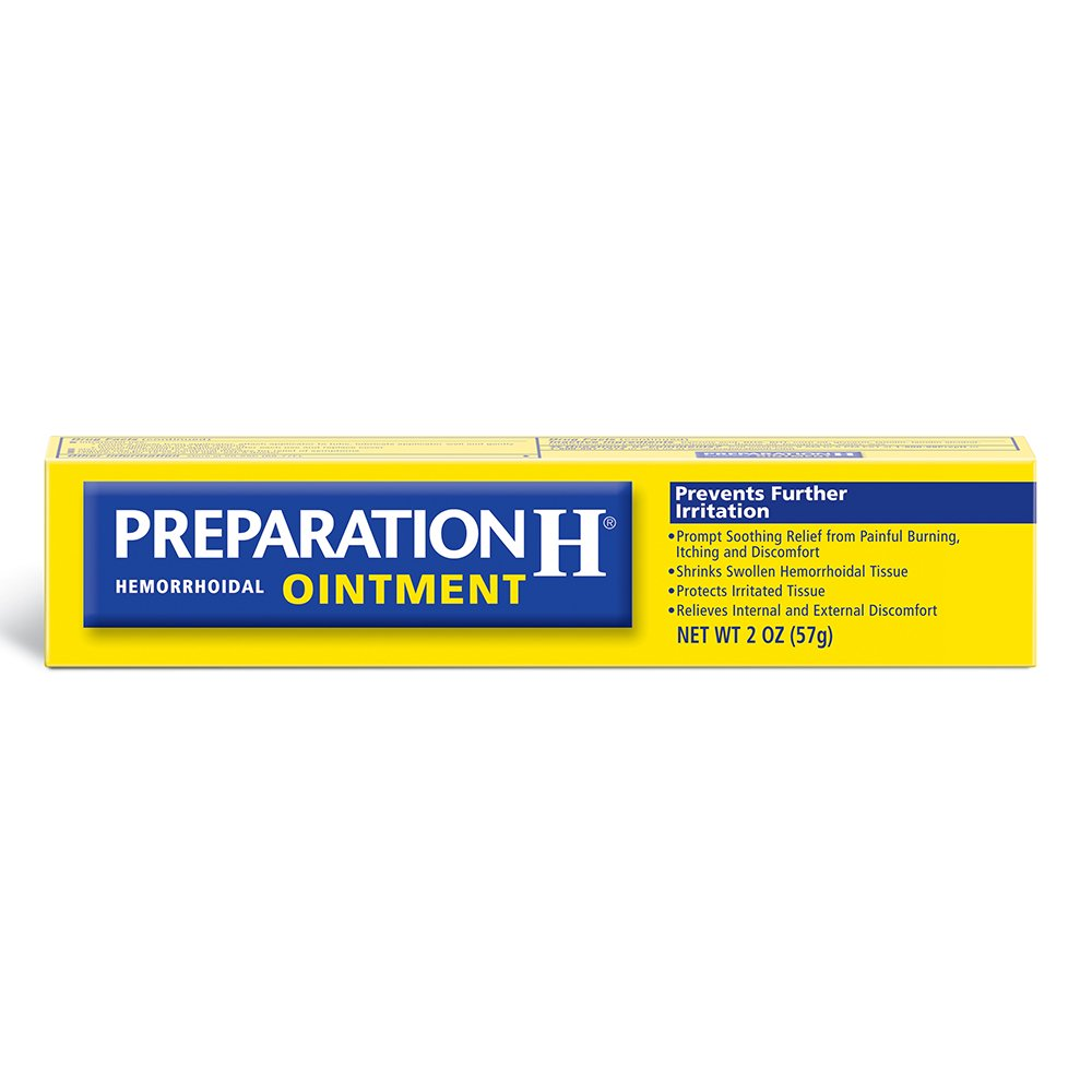 Preparation H (2.0 Ounce, 1 Tube per Box) Hemorrhoid Symptom Treatment Ointment, Itching, Burning & Discomfort Relief, Tube
