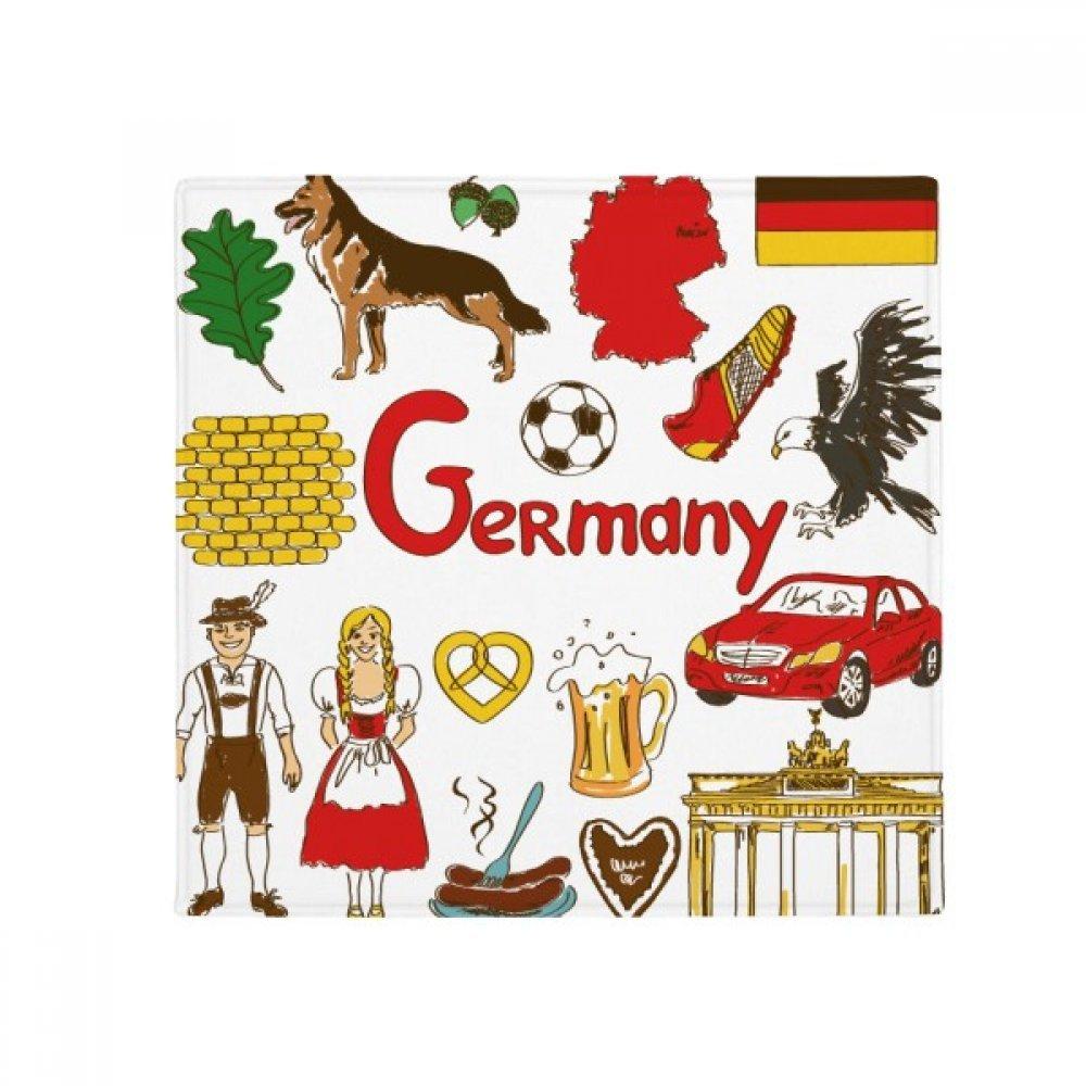 DIYthinker Germany Landscap Animals National Flag Anti-Slip Floor Pet Mat Square Home Kitchen Door 80Cm Gift
