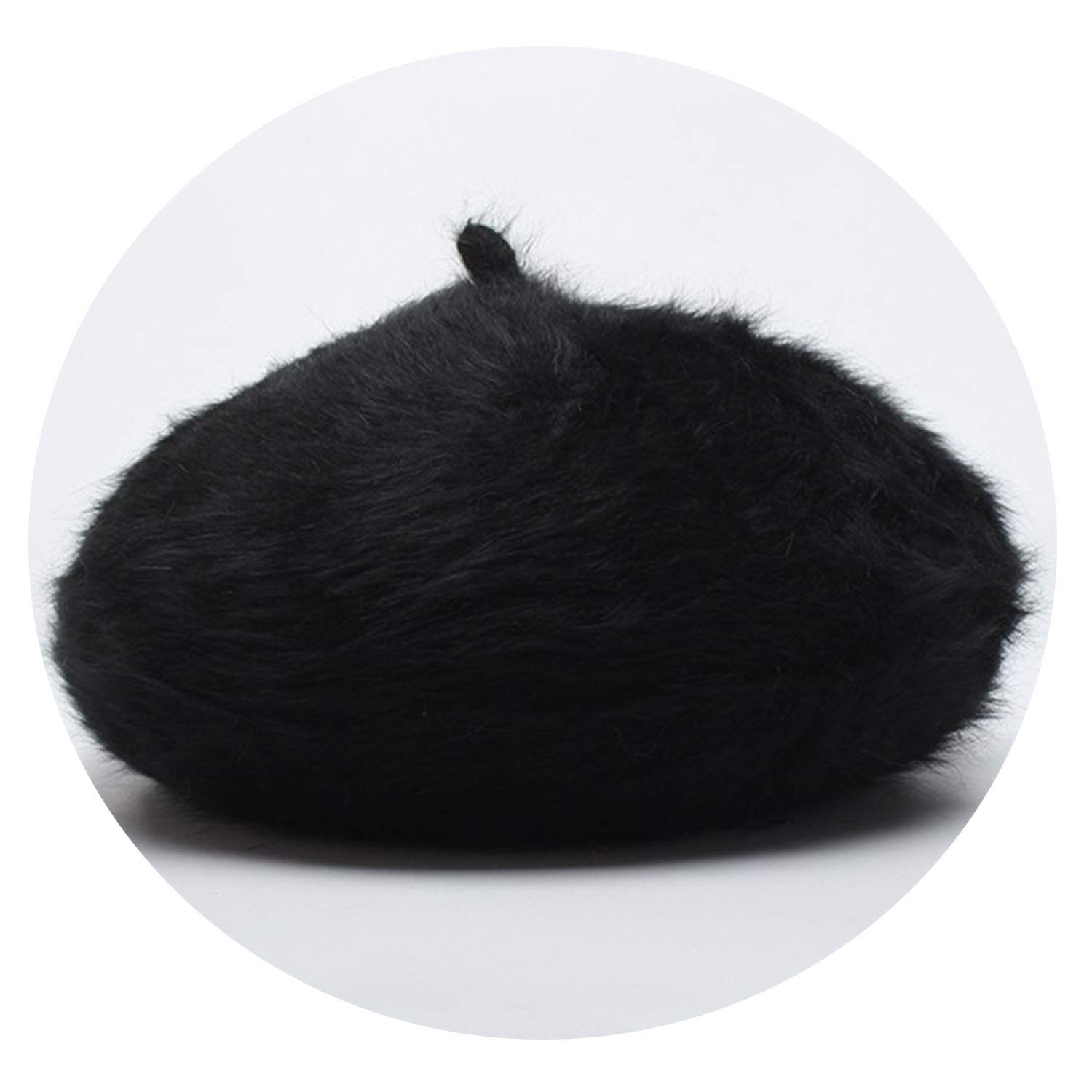 Amazon.com: Women Animal Fur Knitted Berets Hats 2019 Casual Autumn Winter Female hat Gorras Beret Feminino,Black: Clothing