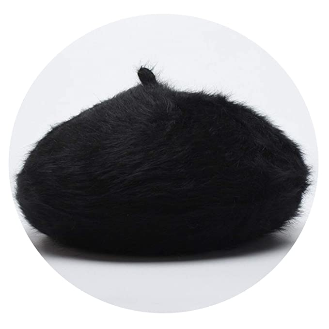 Women Animal Fur Knitted Berets Hats 2019 Casual Autumn Winter Female hat Gorras Beret Feminino,