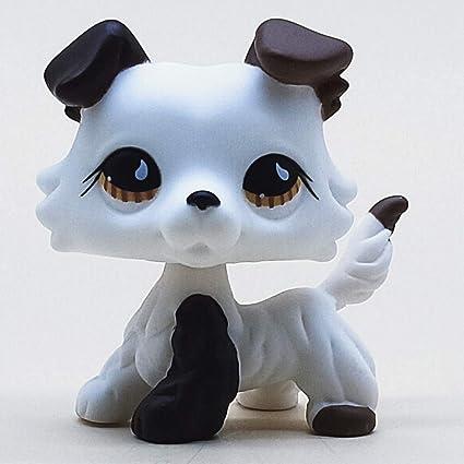 Lps toys Littlest Pet Shop OOAK brown//blue eyes white cat Figure Accessories