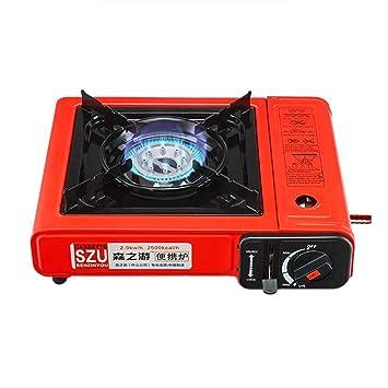 SENZY - Estufa de Gas portátil para Acampada, Doble Uso, para Picnic, Rojo: Amazon.es: Deportes y aire libre