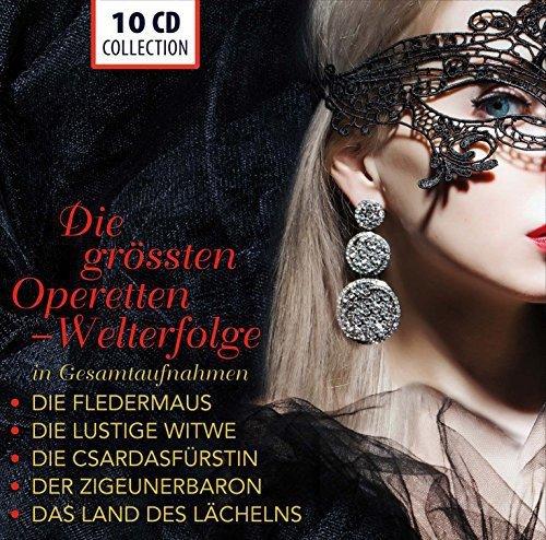 The Greatest Operettas (Complete Recordings): Die Fledermaus, Die lustige Witwe, Die Csárdásfürstin, Der Zigeunerbaron, Das Land des Lächelns