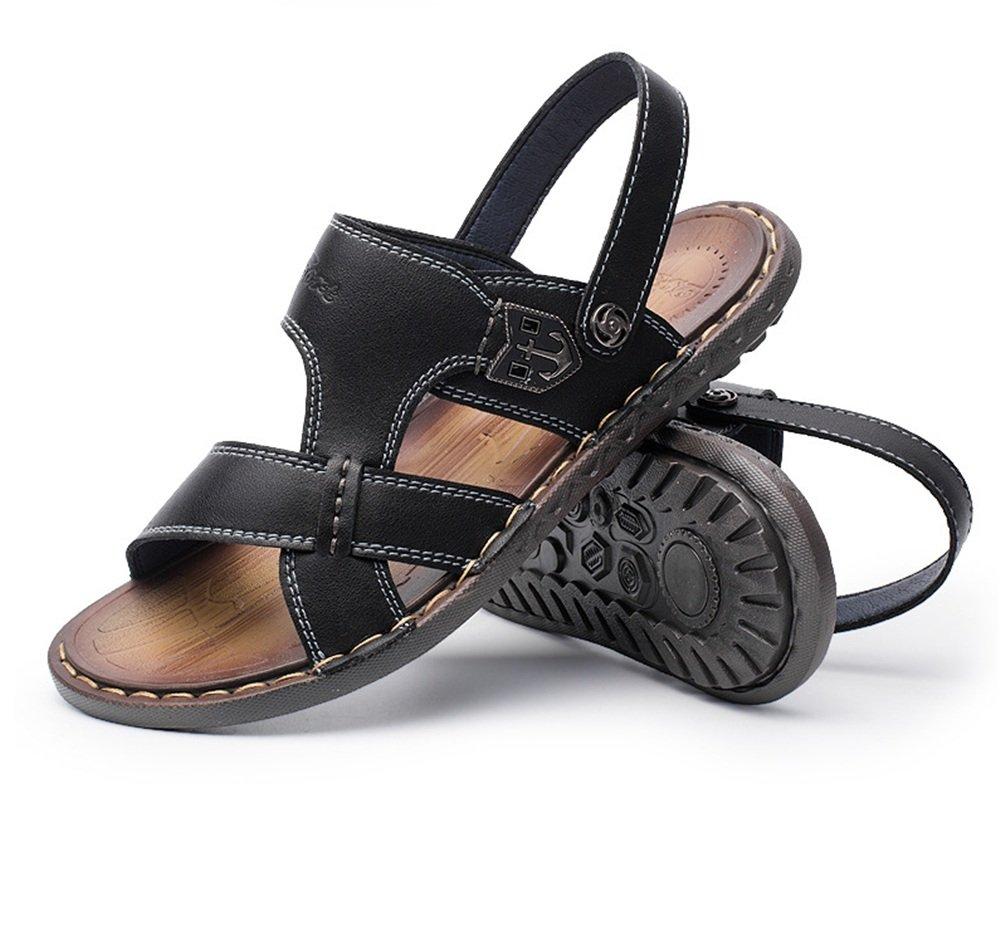 Zapatillas Sandalias De Verano Sandalias Dobles para Hombres Sandalias Impermeables Antideslizantes A Prueba De Agua Zapatos de Playa 38 2/3 EU|Negro