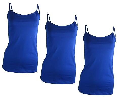 b935bf4fd8 Women s Soft Cotton Cami Vest Tops - 3 pack (A588)  Amazon.co.uk ...