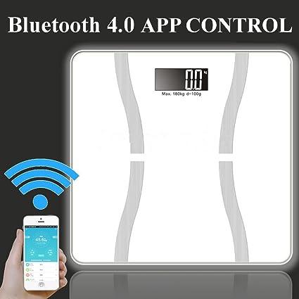 Smart báscula de baño, puqu peso escala Smart Bluetooth conectado báscula digital con Smartphone App