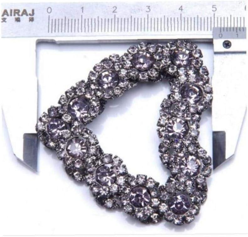 2pcs Tacco Alto Pompe Flats Borsa del Diamante di Cristallo Graffe Scarpe Decorazione di Nozze Fibbia
