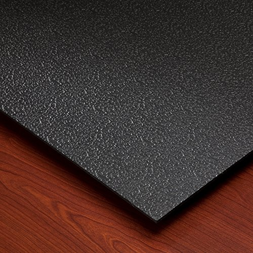 Black Ceiling Tiles (Genesis Stucco Pro Black 2x4 Ceiling Tiles 4 mm thick (carton of 10) - These 2'x4' Drop Ceiling Tiles are Water Proof and Won't Break - Fast and Easy Installation (2' x 4' Tile))