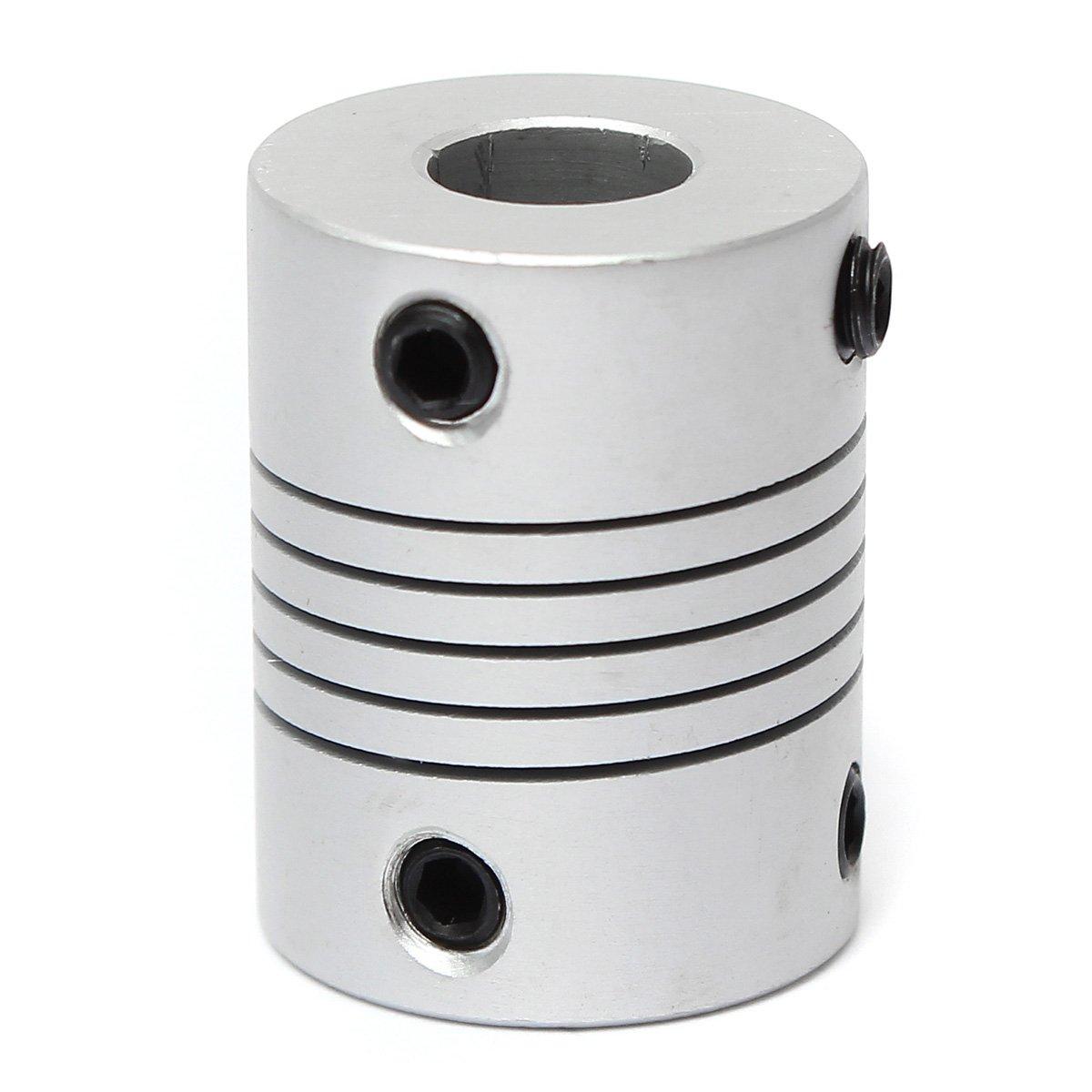 ChenXi Shop 4 Pieces 4mm x 4mm Aluminum Flexible Shaft Coupling OD19mm x L25mm CNC Stepper Motor Coupler Connector
