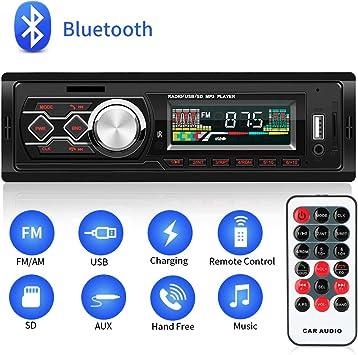 Autoradio USB AUX IN BLUETOOTH MicroSD FM mp3 stéréo 1 DIN Mains Libres 1