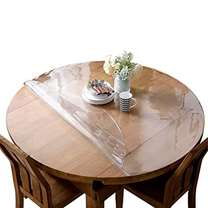 Amazoncom ETECHMART Clear PVC Table Top Protector Round Mm - Oval table top protector