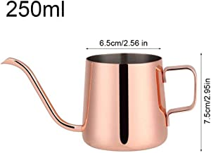 Coffee Pot 250/350Ml Stainless Steel Coffee Pot Drip Long Spout Kettle Cup Home Kitchen Pour Over Coffee And Tea Pot,Rose Red-250Ml