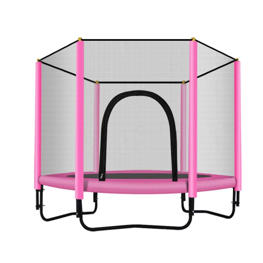 【感謝価格】 Lxn ファッションスポーツトランポリン Pink、安全エンクロージャー - - - 子供用屋外または屋外トランポリン - 60インチ - ベアリング330ポンド B07JZ4WBSF Pink Pink, わかやまけん:ff06c23b --- arianechie.dominiotemporario.com