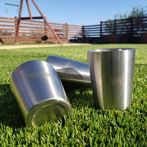 8oz Stainless Steel Double Wall Kids Cups with Smooth Rim - 3 (Cup Stainless Rim)