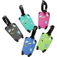 Spaufu Etiquetas de silicona para equipaje (paquete