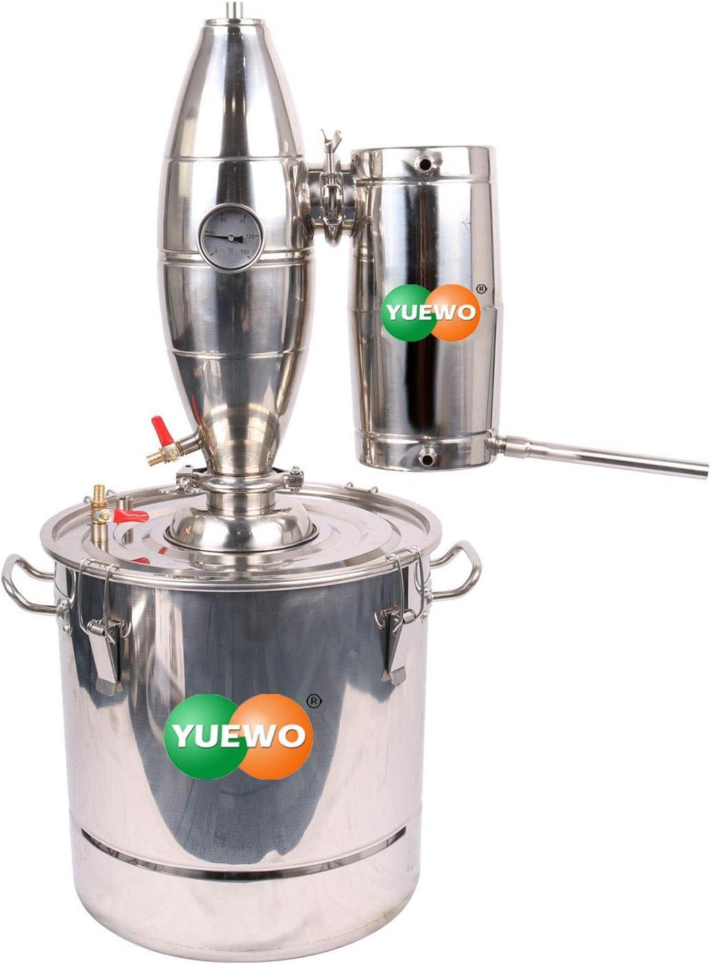 JINHUADAI Aún Kit de elaboración de la Cerveza Whisky Inicio Destilador de Agua y Aceite 18?65L licores Caldera (45L) (Size : 25L)