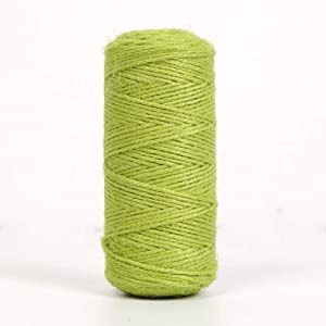 Newtrend 300 feet Nature Jute Twine for DIY Craft, Packing, Decoration and Gardening,3Ply Durable String and Eco-Friendly (Apple.Green)