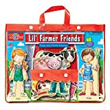 T.S. Shure Lil' Farmer Friends Fran & Frank Wooden Magnetic Dress-Up Playset