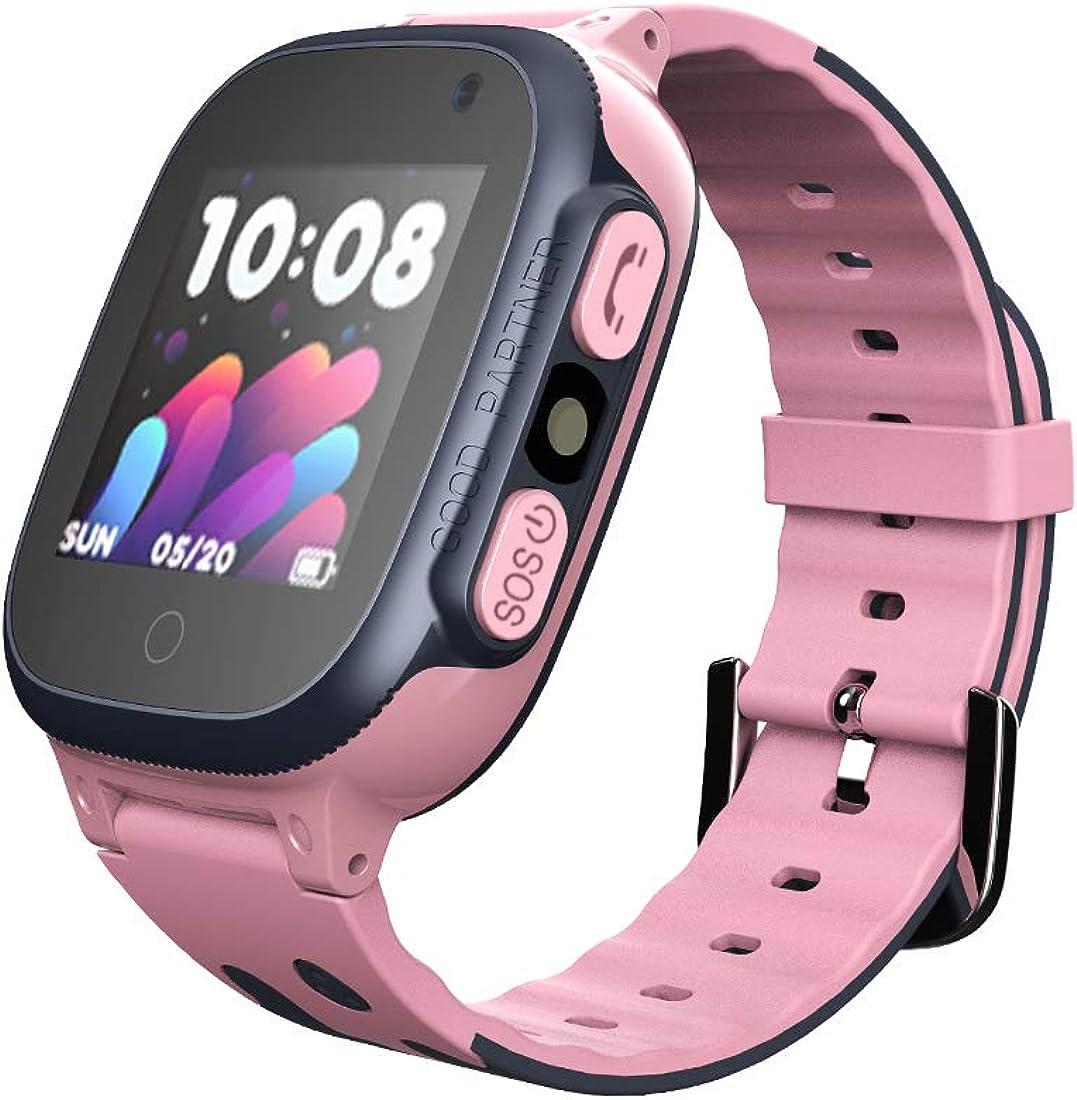 Aivtalk - Reloj Infantil Teléfono para Niñas Niños Multifuncional Alarma AGPS LBS Cámara para Sistema Android iOS - Azul