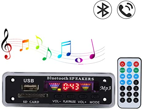 Audio Decode Board with Remote Control TFM01BT+U-DX Bluetooth 5.0 4 Colors Screen FM APE FLAC Decode Board Module Bluetooth Mp3 Decoder Board Adapters Support Hands-Free Calling