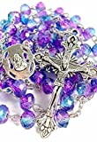 Best Nazareth Market Store Man Medallions - Nazareth Store Unique Purple Blue Crystal Beads Rosary Review