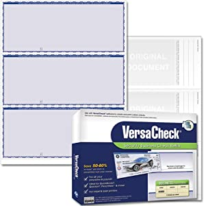 VersaCheck Security Business Check Refills: Form #3000 Business Standard - Blue - Premium - 250 Sheets