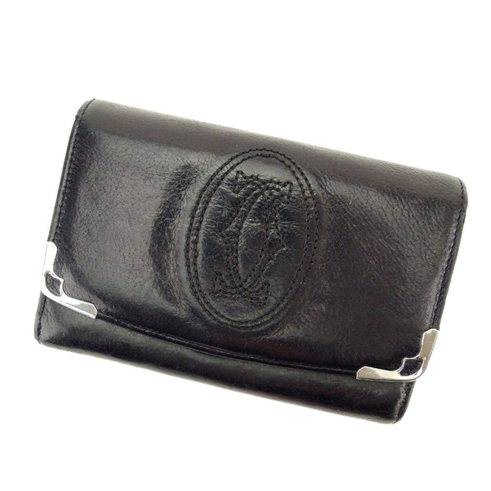 (カルティエ) Cartier L字ファスナー 財布 二つ折り ブラック シルバー マルチェロ レディース メンズ 可 中古 T6404   B079S38B7M