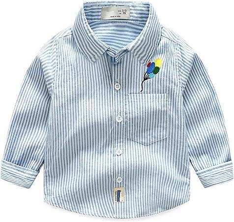 Weentop Raya de niño Camisa de Color Puro Camiseta de Manga Larga Traje Ropa para niños Niños pequeños (Color : Azul, tamaño : 100): Amazon.es: Hogar