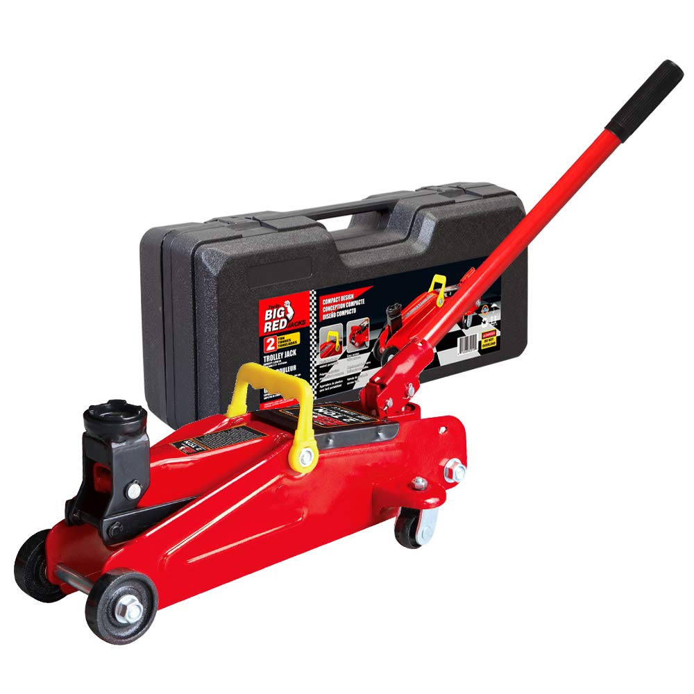Torin Big Red Hydraulic Trolley Floor Jack with Carrying Case, 2 Ton Capacity by Torin