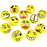 "3"" Party Pack Emoji Stress Balls - Stress Reliver Party Favors, Toy Balls, Party Toys (12 Pack)"
