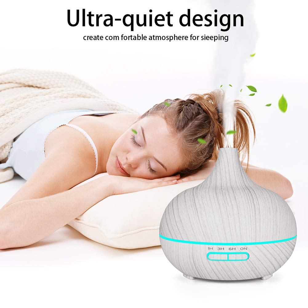 Bedroom,Yoga,White Portable Humidifier for Office Car Ultrasonic Aromatherapy Diffusers Up to 10H Use With Automatic Shut-off 7 Color LED Lights Humidifier 400ML