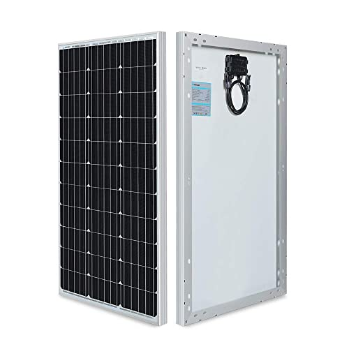 The renogy 80 watt 12 volt monocrystalline solar panels vertically stood up
