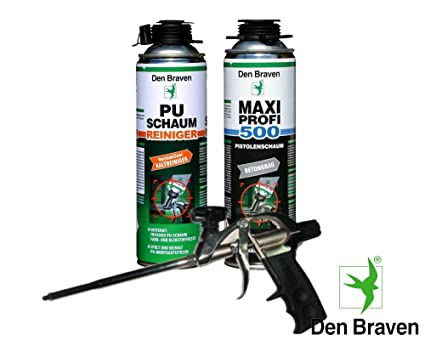 Den Braven Set profesional 1 X Maxi profesional 1 KB2 de – Pistola de espuma de