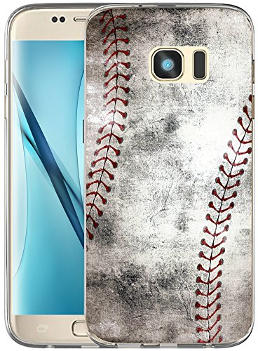 Vintage Cover - S6 Case / IWONE Designer TPU Non Slip Rubber Durable Compatible Protective Skin Transparent Cover Shockproof For Samsung Galaxy S6 + Creative Vintage Baseball Art Pattern Printing
