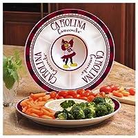 South Carolina Gamecocks Ceramic Chip and Dip Round Tray