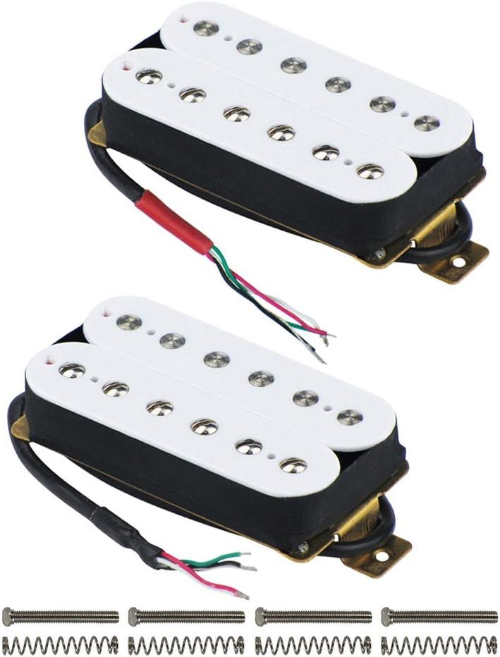 Fleor double Coil Humbucker Alnico 5/Aimant Guitare Humbucker Pickup pour guitare /électrique pi/èces de rechange Bridge noir