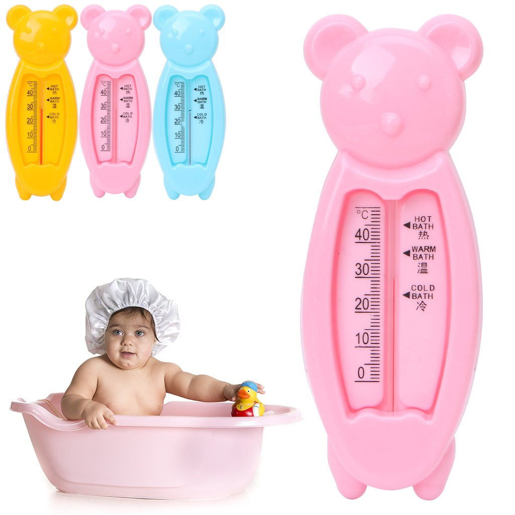 Guoyy Baby Infant Lovely Plastic Floating Bear Bathtub Water Sensor Thermometer Tester