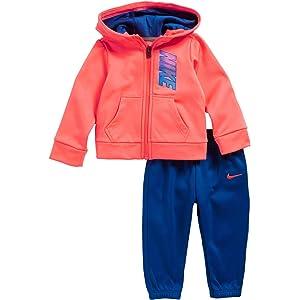 Nike 399S-023 Chándal, Bebé-Niños, Negro/Rosa, 12 Meses: Amazon.es ...